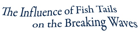 The Influence of Fish Tails on The Breaking Waves